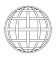 intertwined meridian and parallel globe vector image