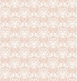 Intricate White Luxury Seamless Pattern on Pink vector image vector image
