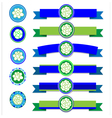 Jasmine ribbon vector image vector image