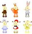Kinders ready xmas in color 03 vector image vector image