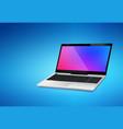 laptop mockup realistic background vector image