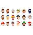 man head icon set cartoon style vector image vector image