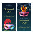 Masquerade Ball Invitation Banners vector image vector image