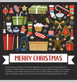 merry christmas xmas celebration winter holidays vector image vector image