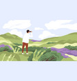 nature lover flat man vector image vector image