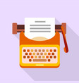 old typewriter icon flat style vector image