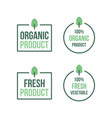 organic product vegetable fresh vector image
