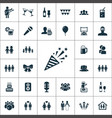 party icons universal set for web and ui vector image