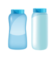powder bottle set vector image vector image