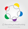 Recruiting and headhunting business icon vector image vector image