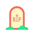red grave icon with bushes vector image