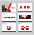 red presentation templates infographic vector image vector image