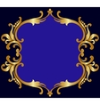 Royal golden frame vector image vector image