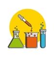 Science lab design vector image vector image