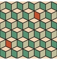 Seamless pattern with cubes in retro color vector image vector image