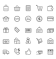 Set of Outline stroke Shopping icon vector image vector image