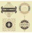 Set of vintage logo templates Hotel Restaurant vector image vector image