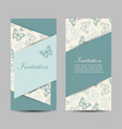 set vertical banners with butterflies vector image vector image