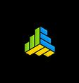 shape geometry technology logo vector image vector image