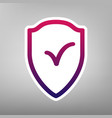 shield sign as protection and insurance symbol vector image vector image