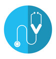 stethoscope medicine health equipment shadow vector image vector image