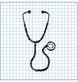 Stethoscope with pen effect vector image