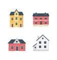 suburban private houses house exterior vector image vector image