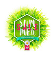 summer sale on green backdrop vector image vector image