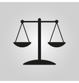The scales icon vector image vector image