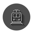 Train transportation icon with long shadow