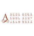 vintage caligraphy capital letters for monograms vector image
