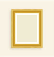 vintage luxury golden photo frame vector image