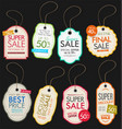 vintage style sale tags design collection vector image
