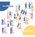 wedding isometric icons recolor set vector image vector image