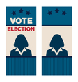 Woman President Election Brochure Covers vector image vector image