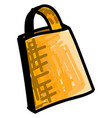 yellow bag on white background vector image vector image