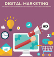 Concepts for digital marketing advertising social vector image
