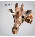 Giraffe Low Poly vector image