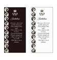 a set of two vertical elegant flyers for vip vector image vector image