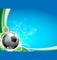 a soccer sport ball on a blue and green background vector image vector image