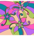 Abstract flowers colorful vector image vector image