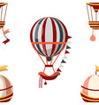 air balloon seamless pattern retro aircraft or vector image vector image