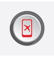 Airport plane icon Mobile phone turn off vector image