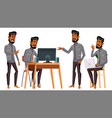 arab man office worker business set vector image vector image