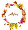 autumn card watercolor fall harvest decor vector image vector image