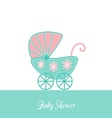 Baby shower invitation vector image vector image