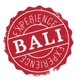 Bali rubber stamp vector image