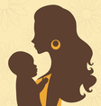Beautiful mom holding baby vector image