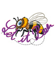 Bee and text vector image