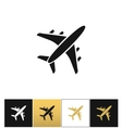 Black air plane silhouette icon vector image vector image